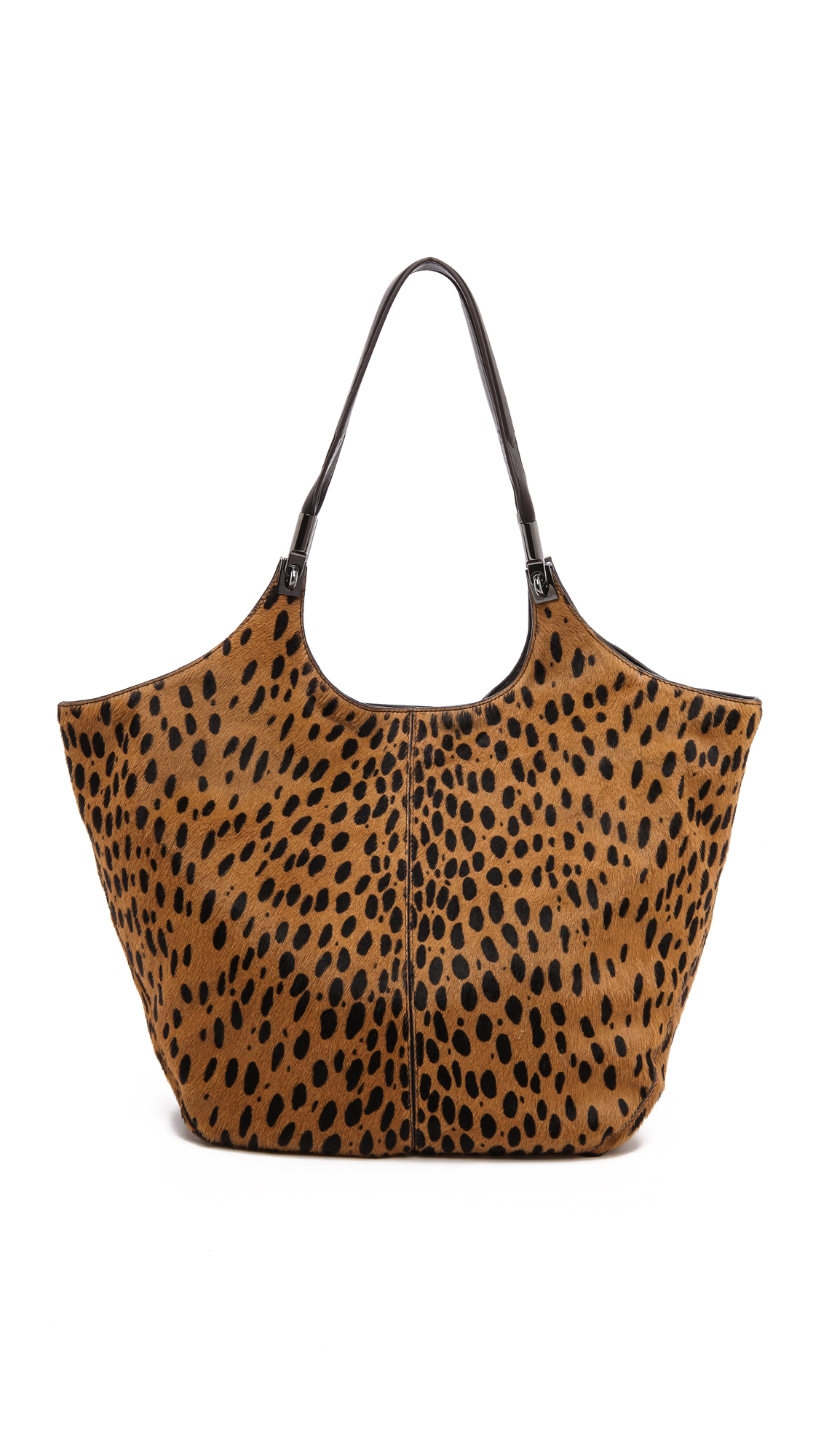 lyst elizabeth and james cynnie haircalf shopper bag cognacblack. Black Bedroom Furniture Sets. Home Design Ideas