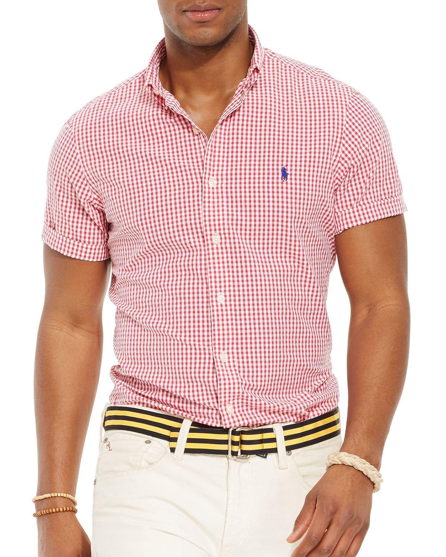 99ad77e8b Ralph Lauren Polo Short Sleeved Striped Seersucker Button Down Shirt ...