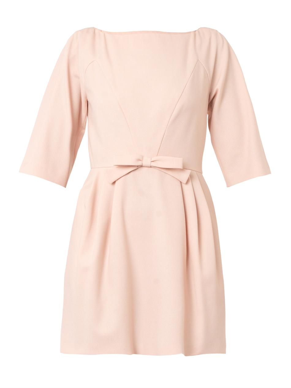 Red Valentino Spring 2016: Red Valentino Crepe Bow Dress In Pink