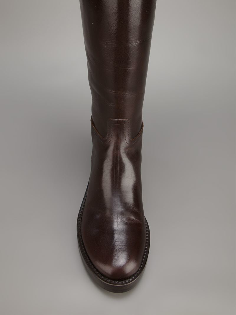 outlet get to buy Ann Demeulemeester Leather Mid-Calf Boots online Shop sale big sale order cheap online CyLkl9