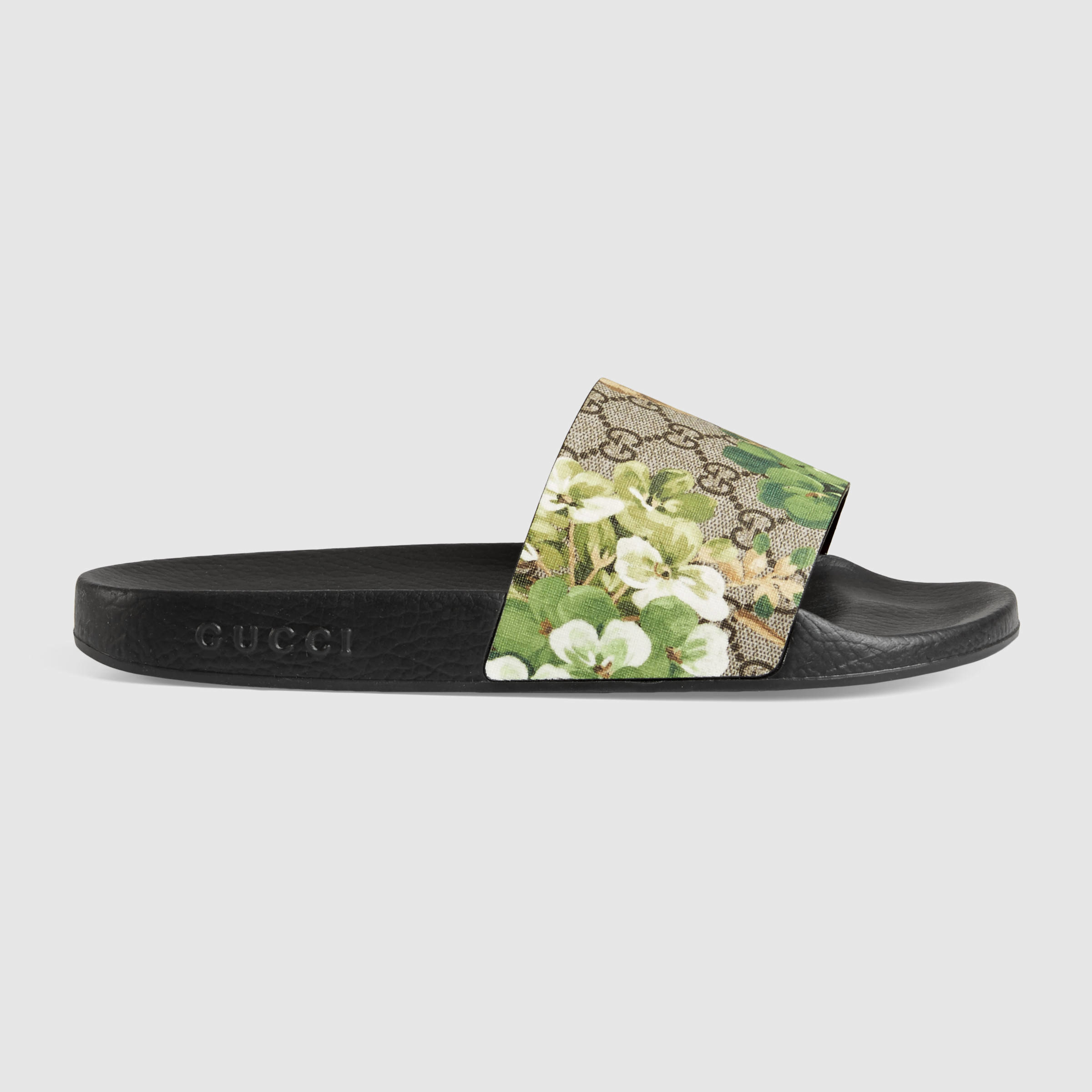 aa21c28bf Gucci Blooms Print Sandal - Lyst