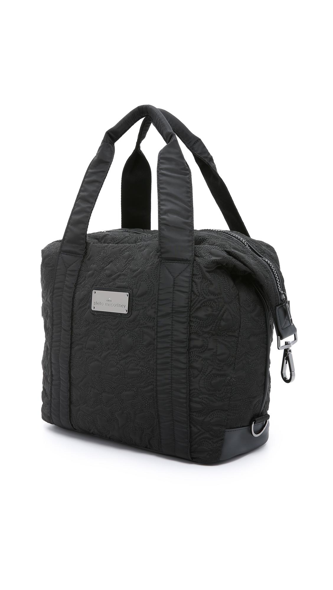 6f78fc99ee3e adidas By Stella McCartney Small Gym Bag - Black in Black - Lyst