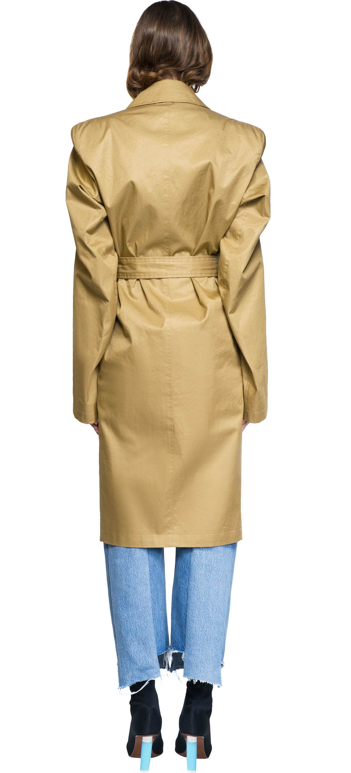 Vetements Trench Coat In Natural Lyst