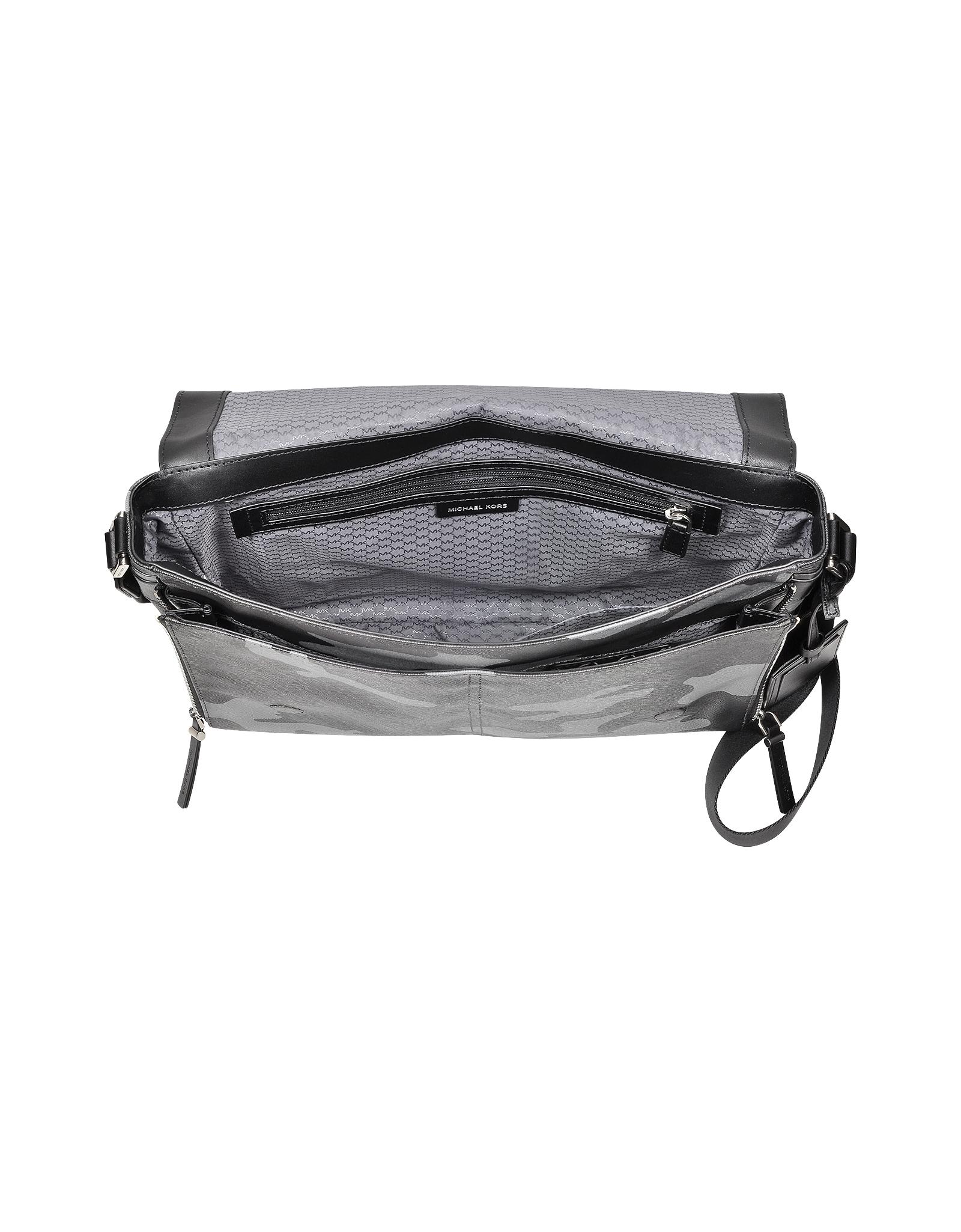 12dc36f46616 Lyst - Michael Kors Jet Set Men S Grey Camouflage Messenger Bag in ...