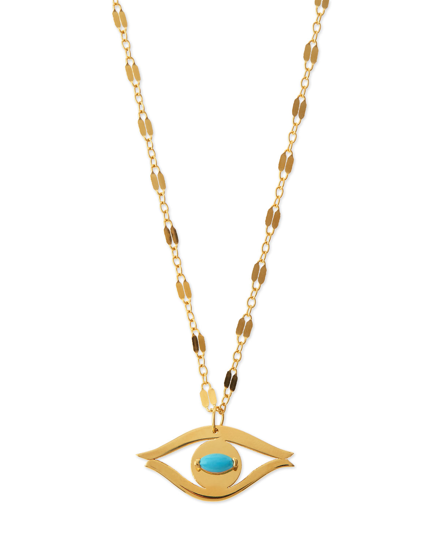 Lyst Jennifer Zeuner Beyah Turquoise Evil Eye Pendant