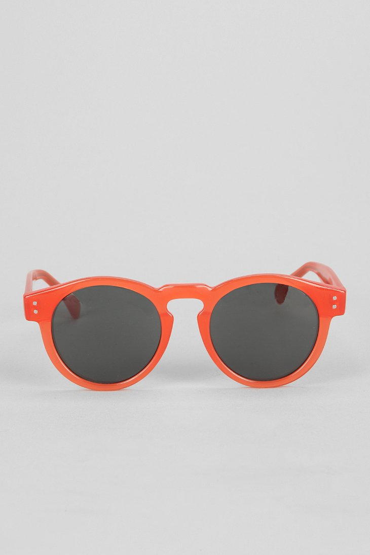 Komono Clement Round Sunglasses  komono clement round sunglasses in orange for men lyst