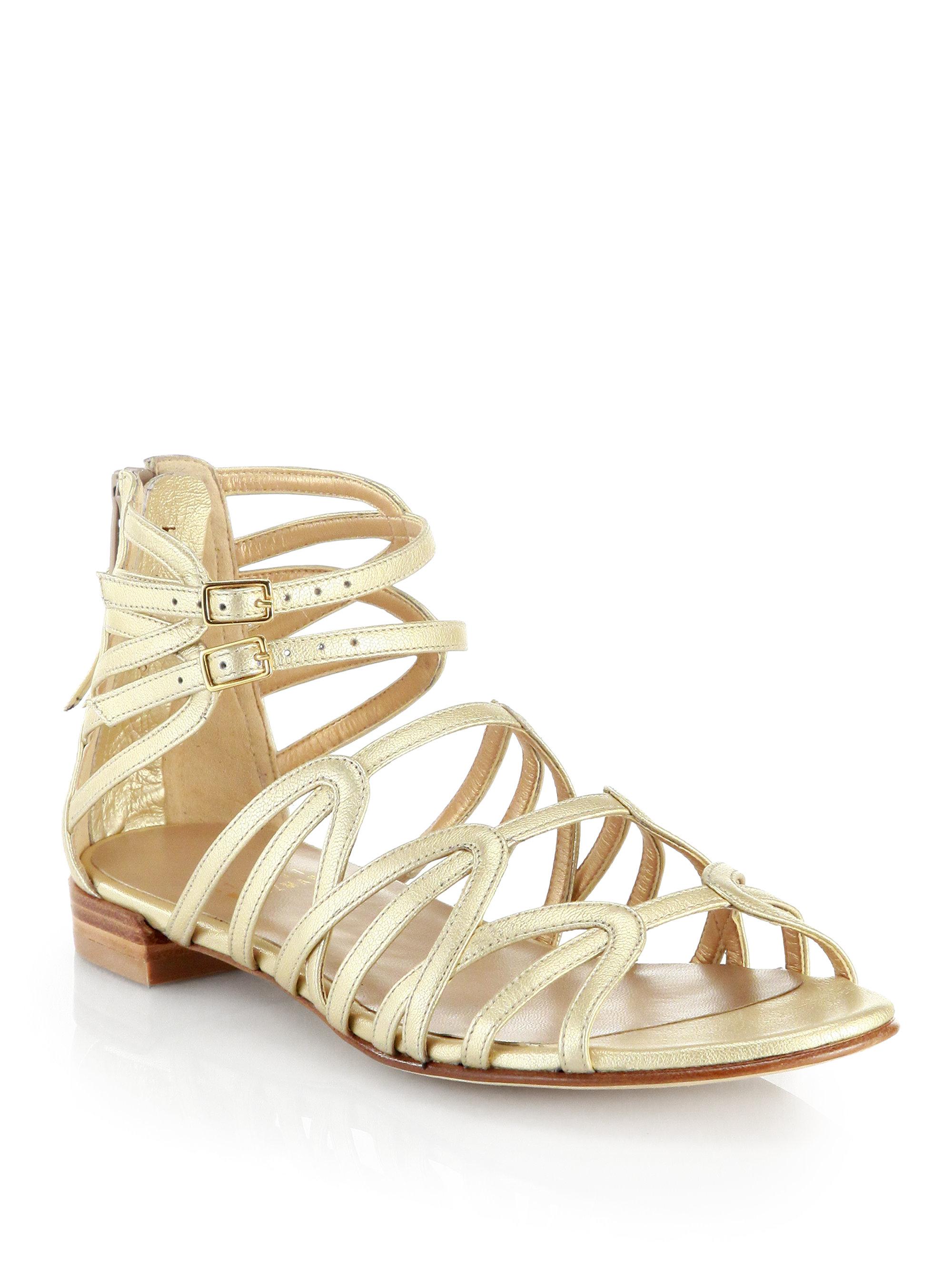 Gold Gladiator Heel Sandals