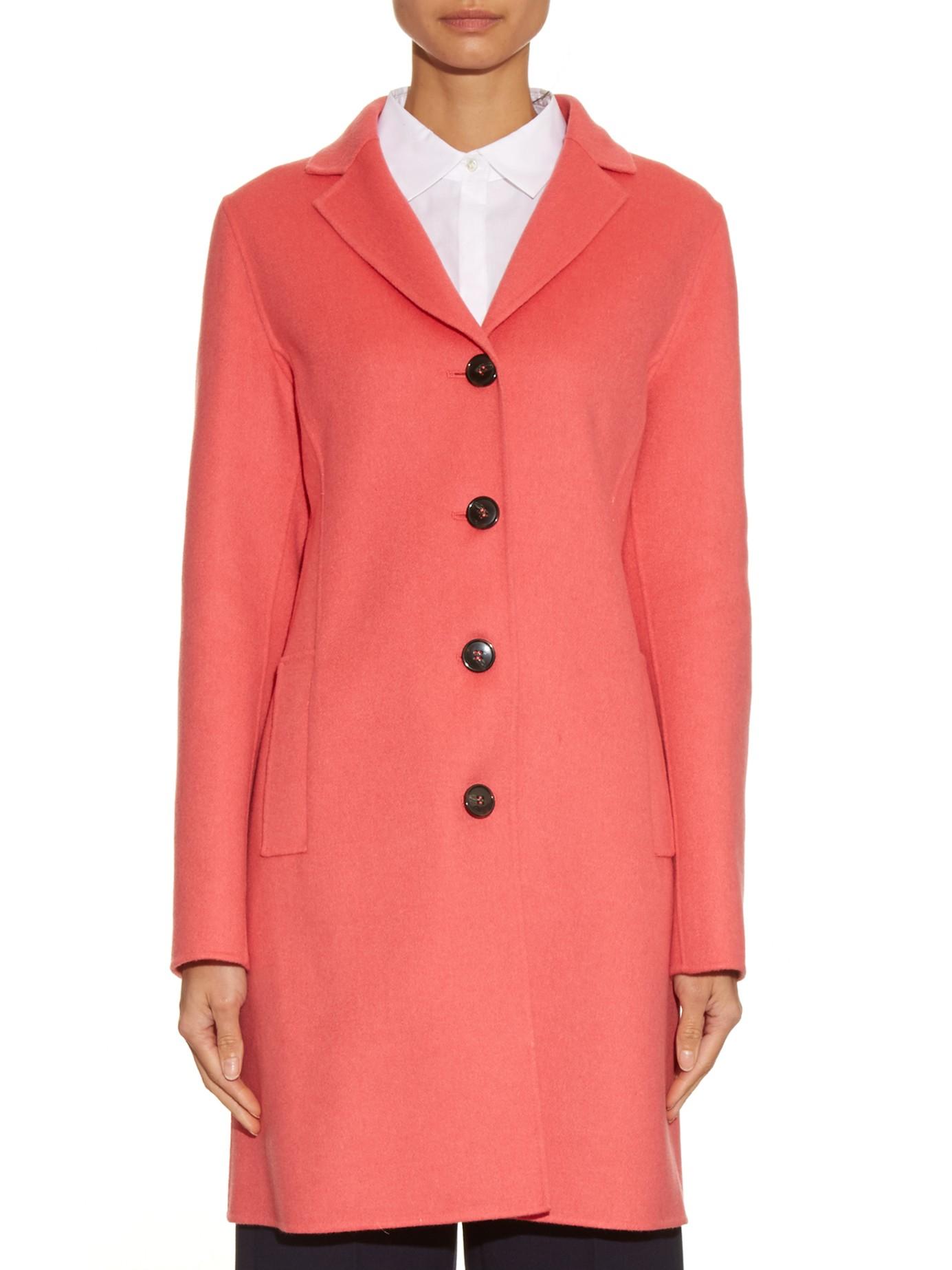 weekend by maxmara doublefaced woolblend coat in pink lyst