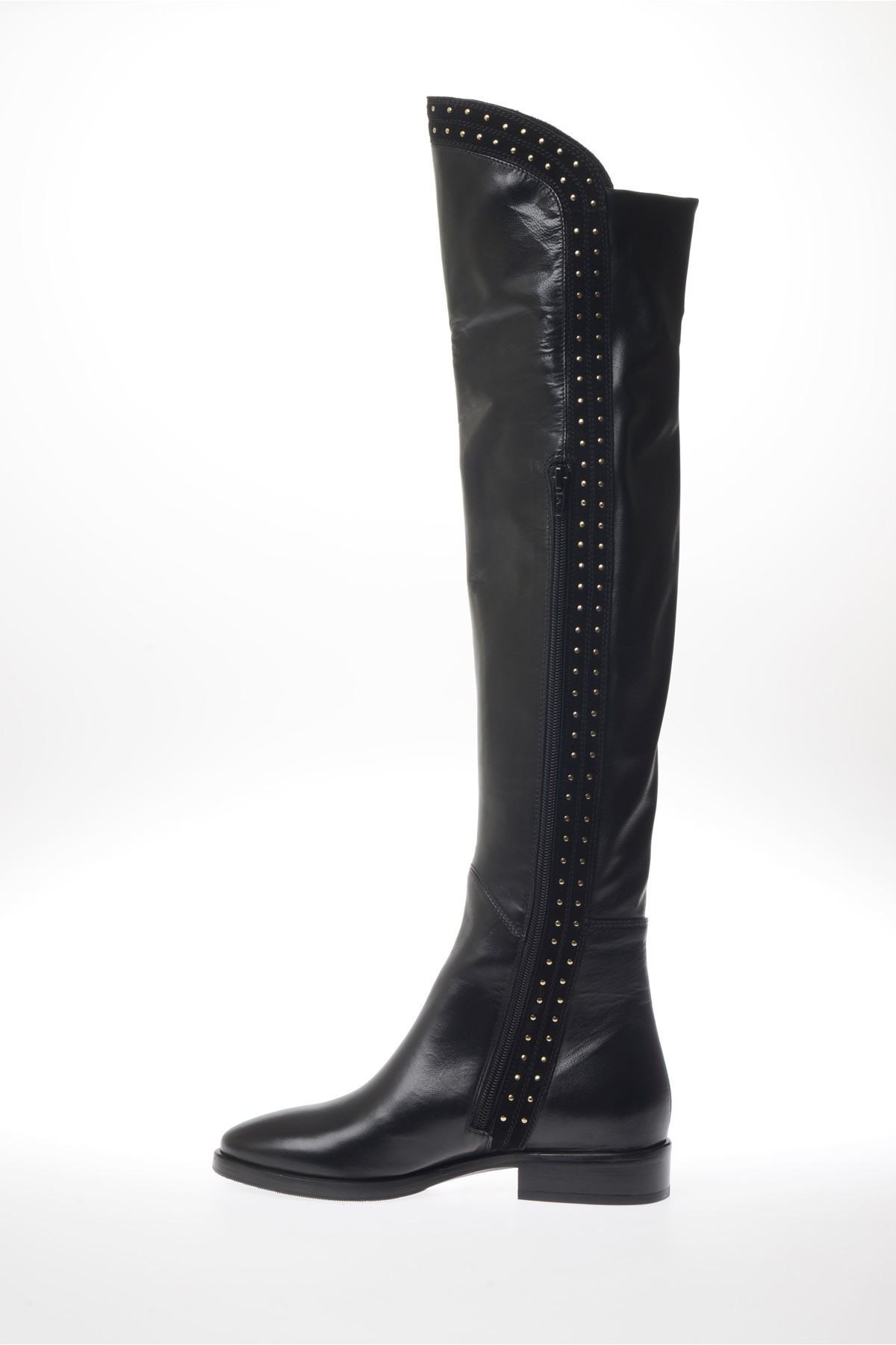 le pepe le pepe high stretch leather boots in black lyst