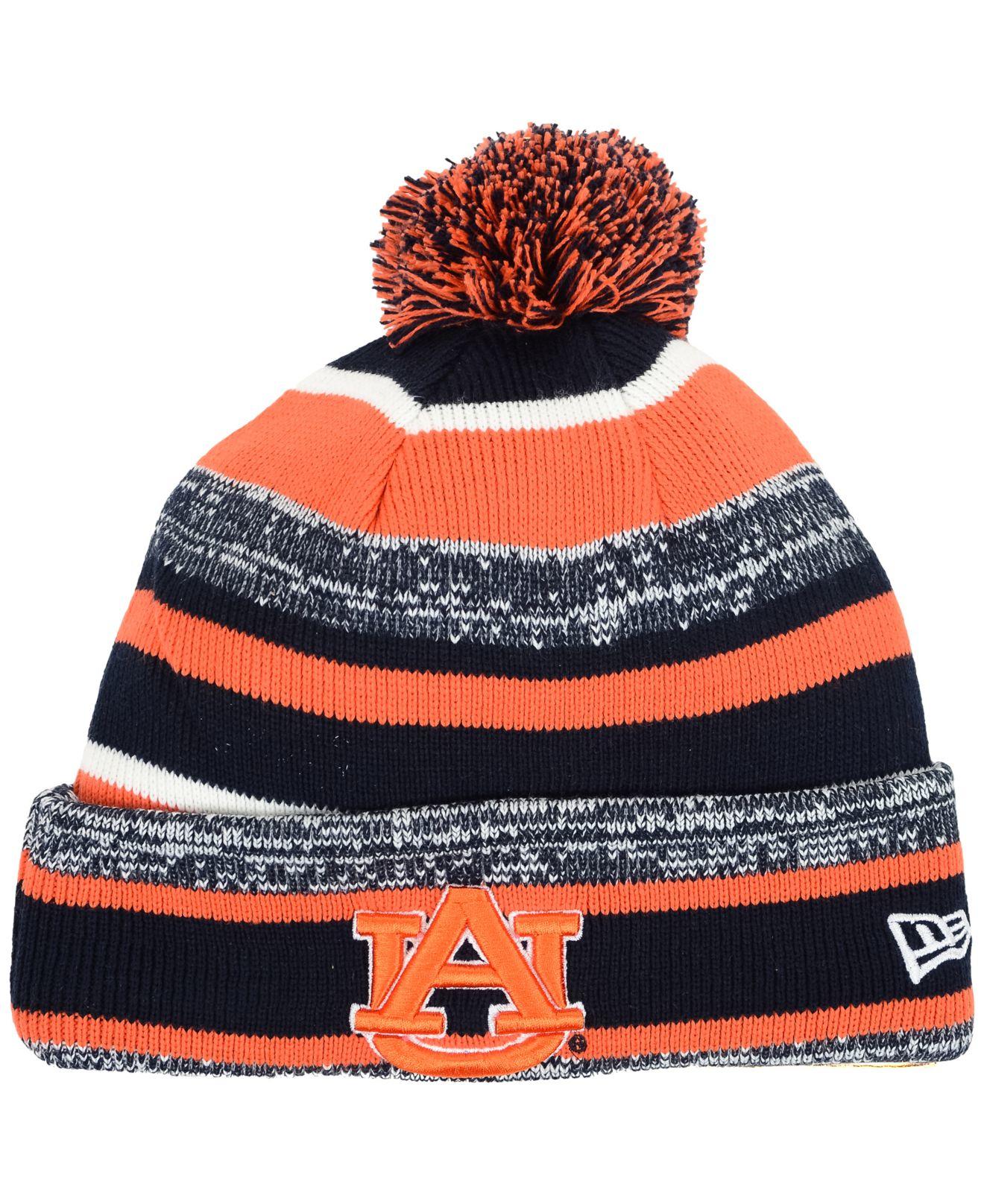 a42e8d78542edb ... closeout lyst ktz auburn tigers sport knit hat in blue for men e176b  98619