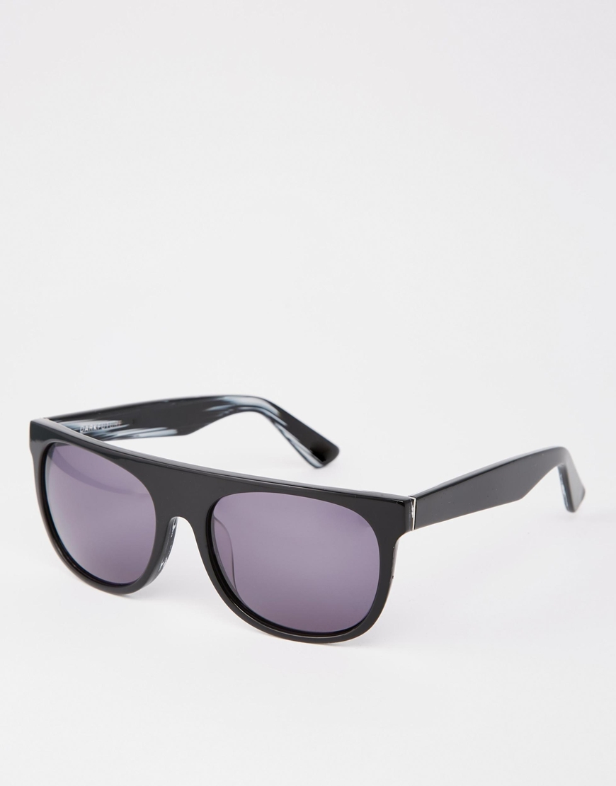 3cc5f0adba91 Dark Future Handmade Acetate Flatbrow Sunglasses In Black in Black ...