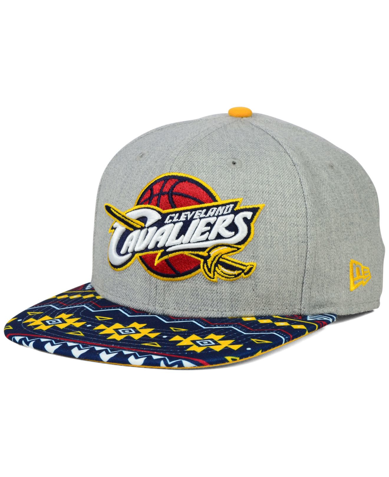 7524edc98aa Lyst - Ktz Cleveland Cavaliers Neon Mashup 9fifty Snapback Cap in ...