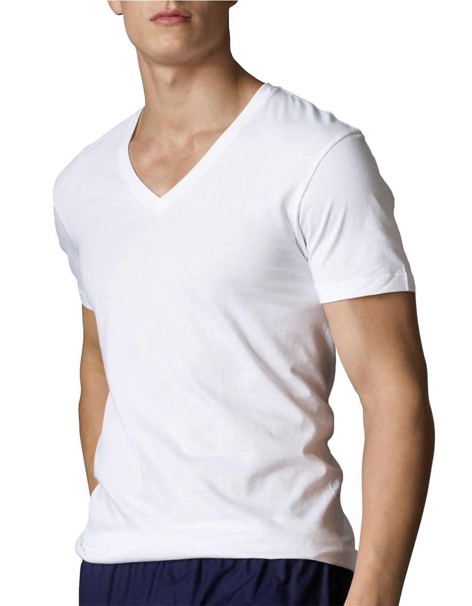 Polo Ralph Lauren V Neck T Shirt Set In White For Men Lyst