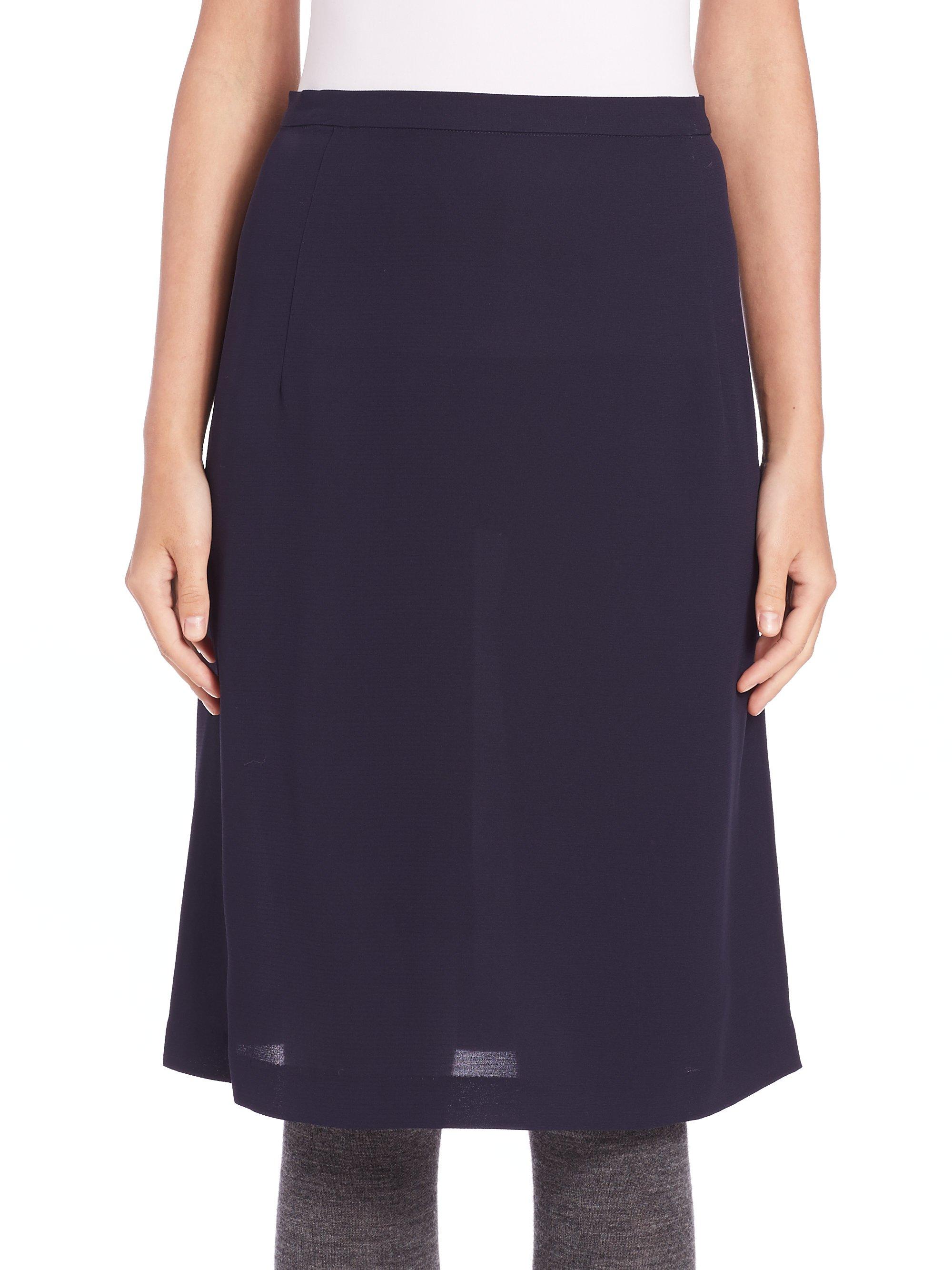 a detacher savia silk skirt in blue lyst