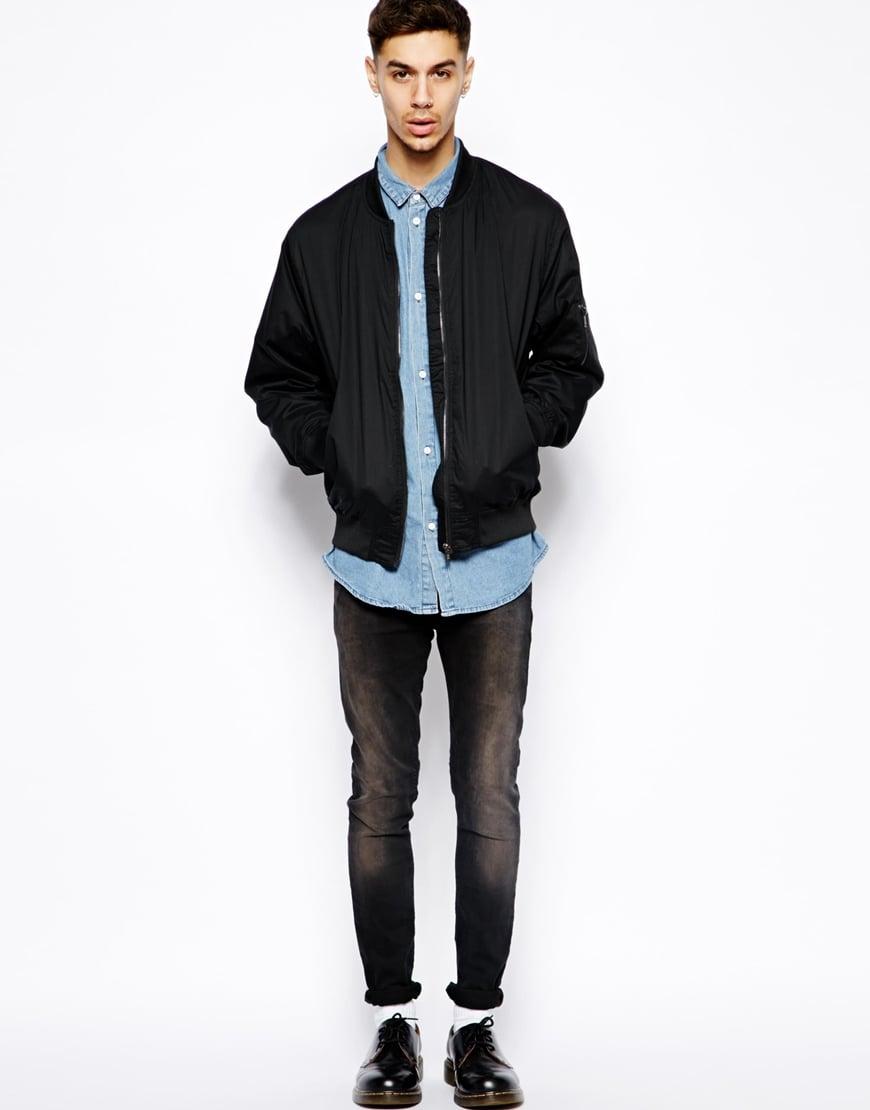 Cheap monday Bomber Jacket in Black for Men | Lyst