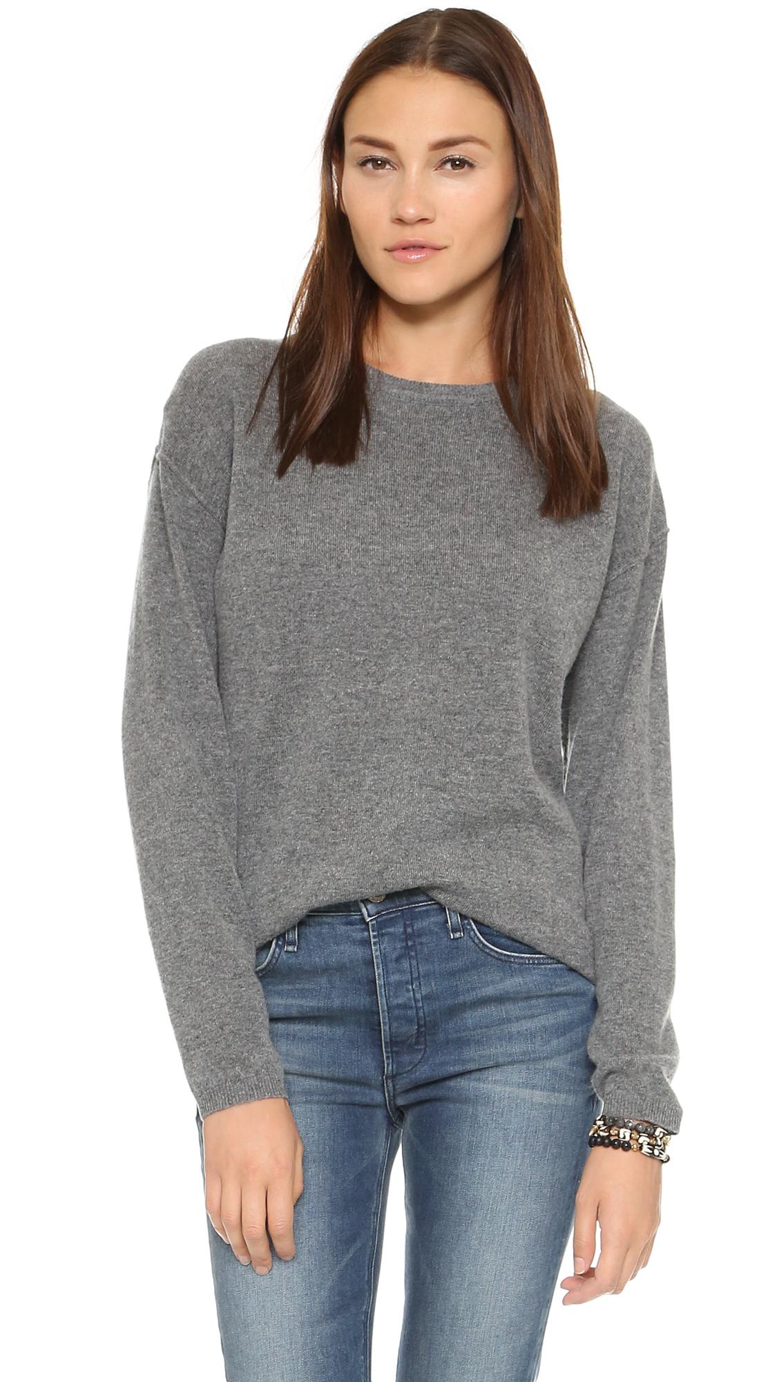 Earnest sewn Dylan Boyfriend Sweater - Grey in Gray | Lyst