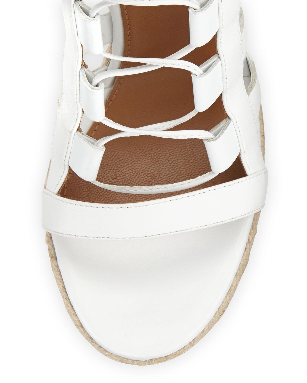 a752a526def0 Lyst - Aquazzura Amazon Lace-up Espadrille Sandal in White