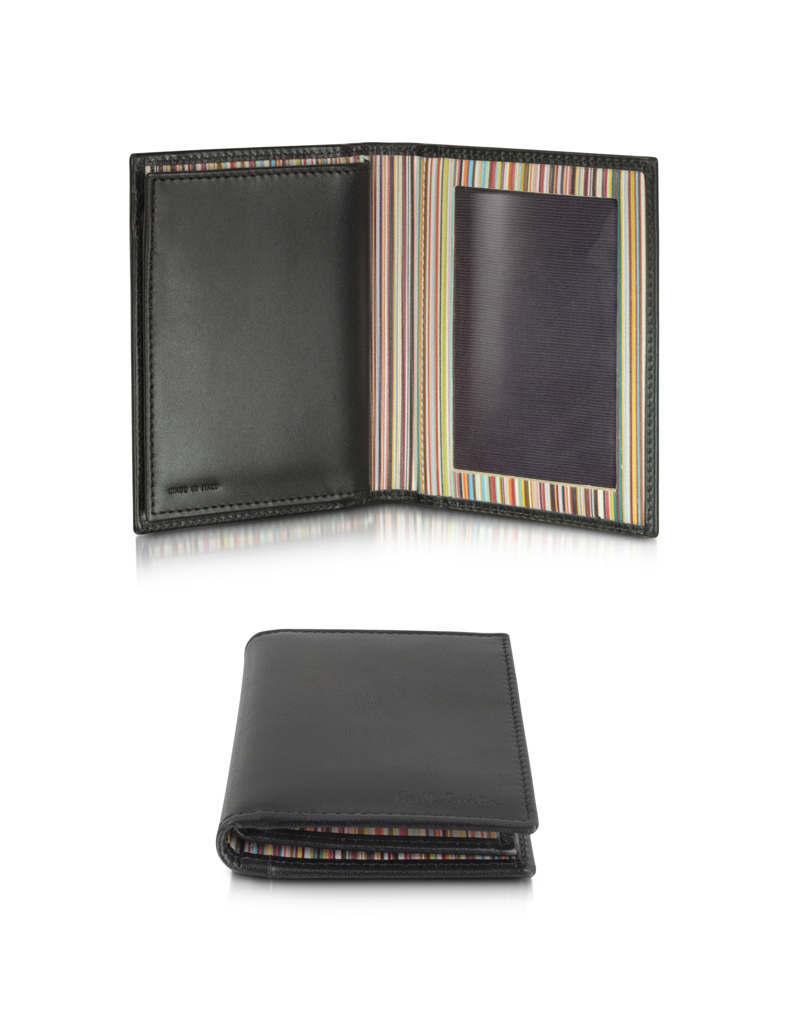 Paul Smith Signature Stripe Bifold Leather Wallet, /Multi
