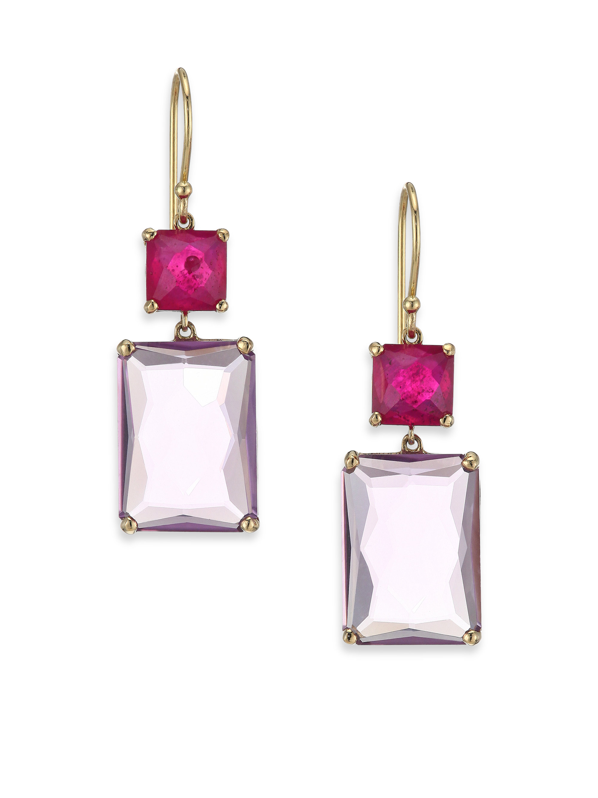 Ippolita 18k Gold Rock Candy Gelato Multi-Stone Drop Earrings in Aurora 3vY6Uq