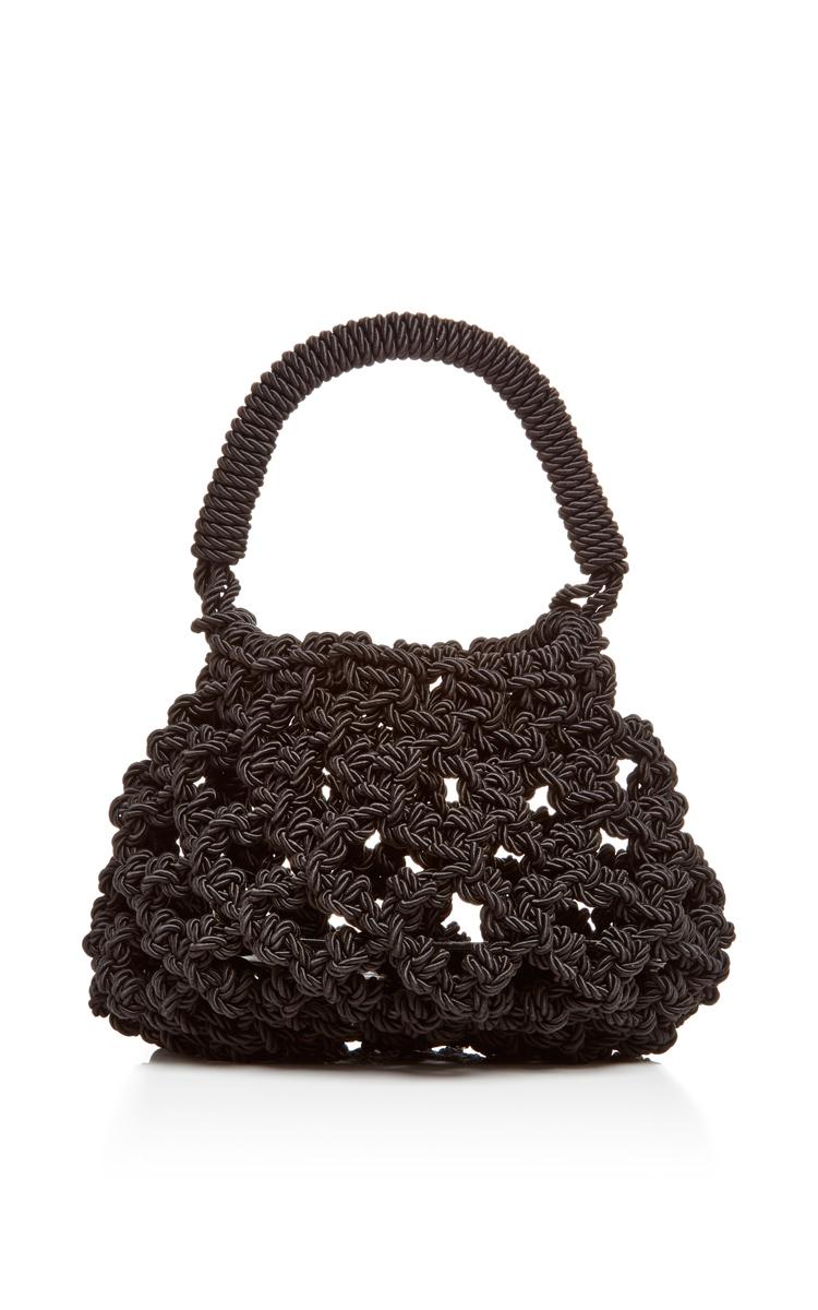 Simone rocha Sailor Cord Woven Bag in Black