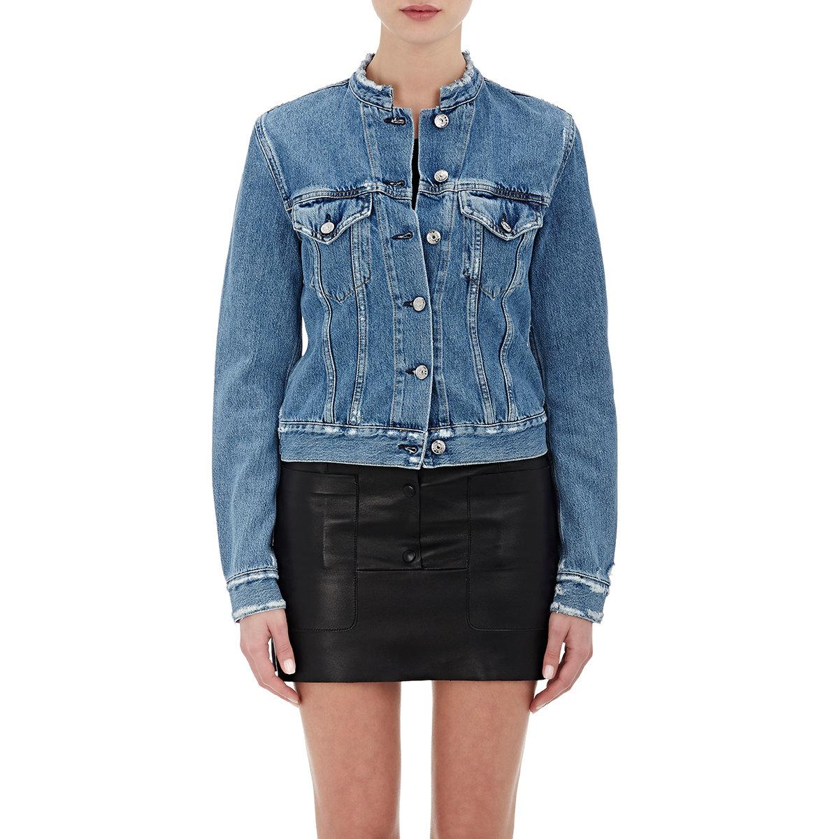 Women blue jean jackets