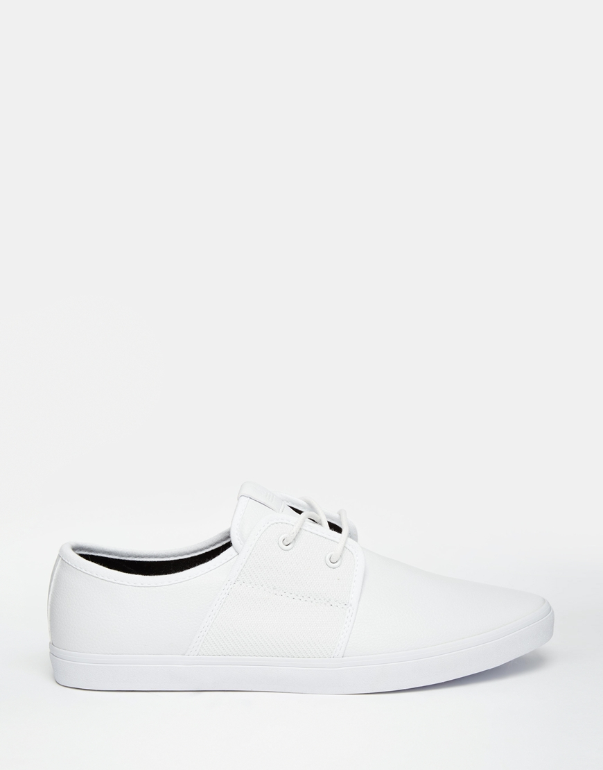 aldo traunna plimsolls in white for lyst