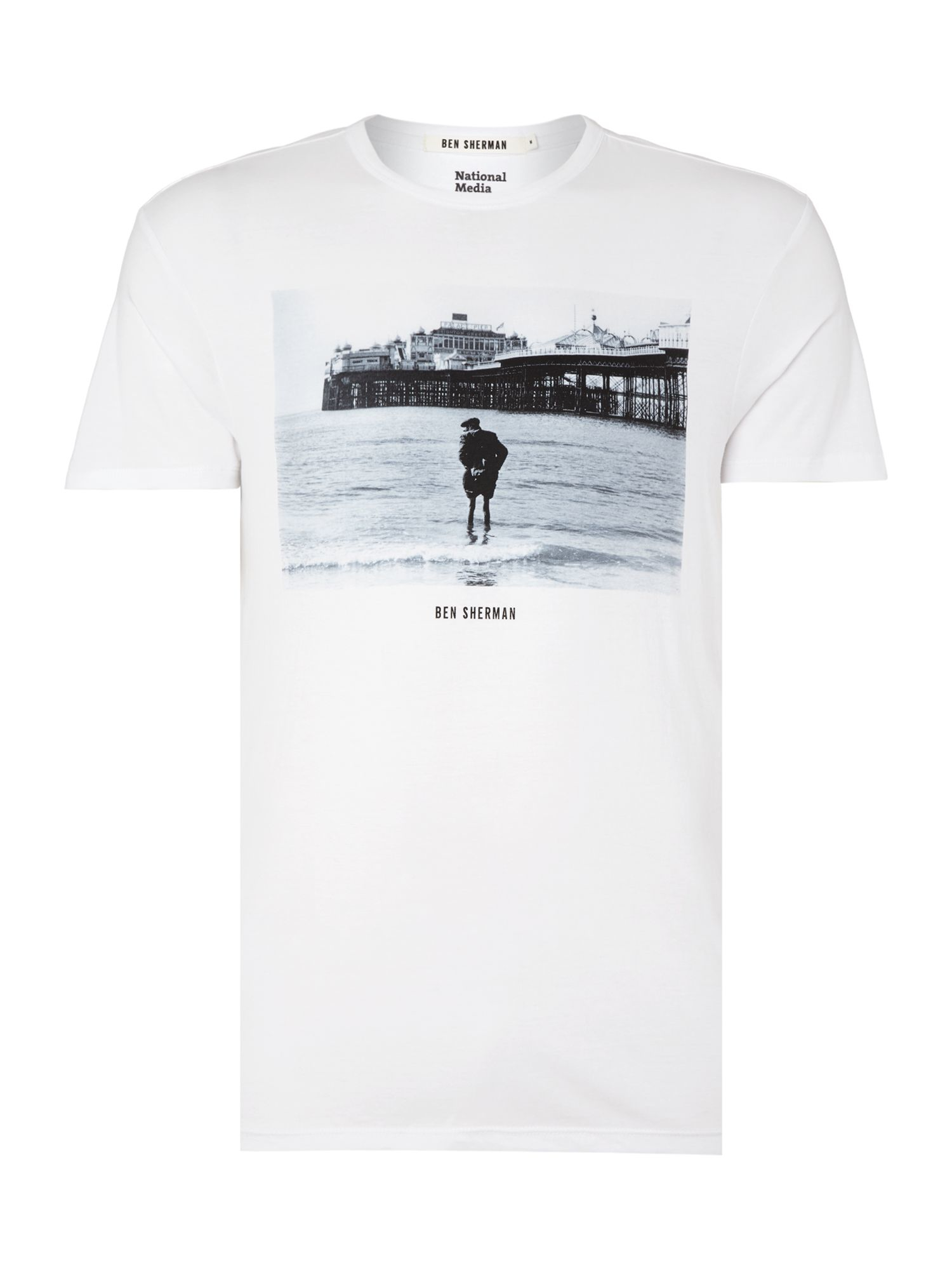 Ben Sherman Tony Ray Jones Brighton T Shirt In White For