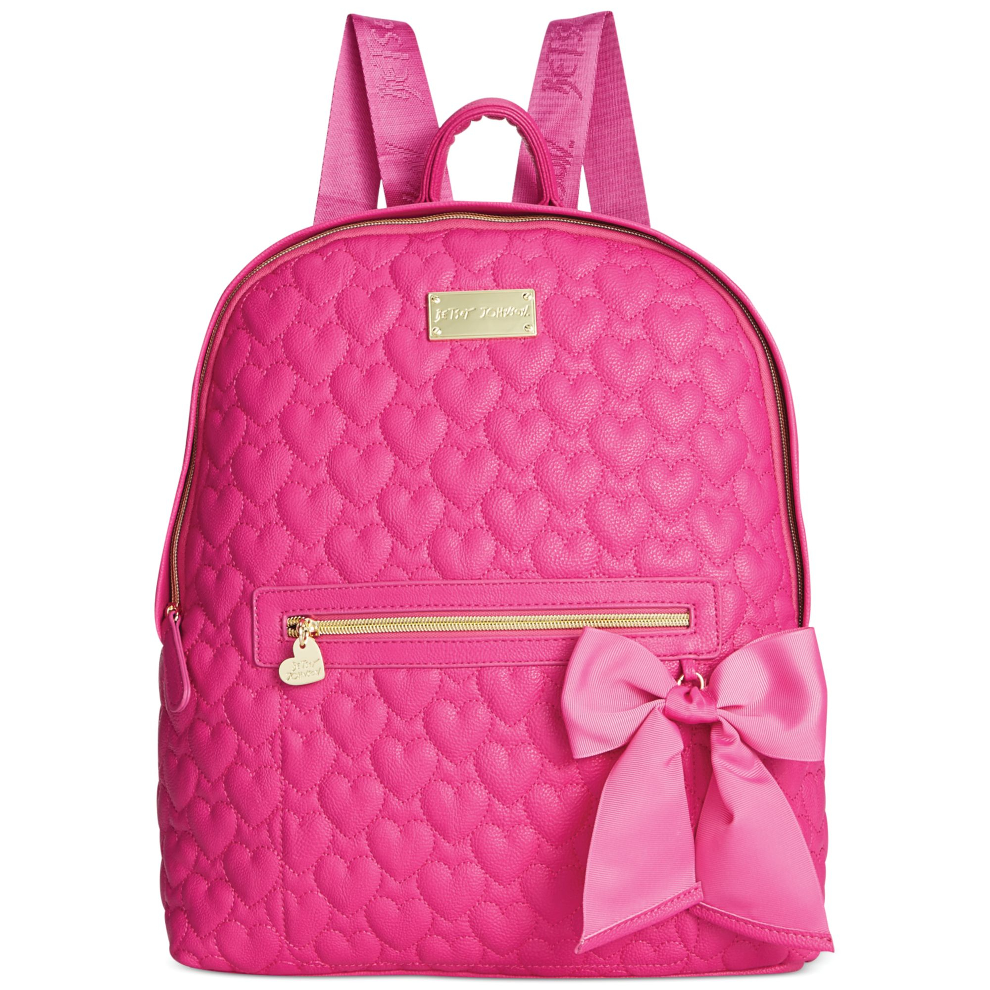 Betsey Johnson Quilted Backpack In Pink Lyst