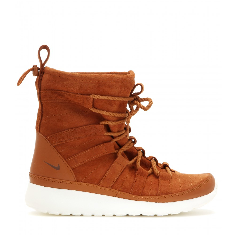timeless design 3bca3 638fb Nike Roshe One Hi Suede Boots in Brown - Lyst