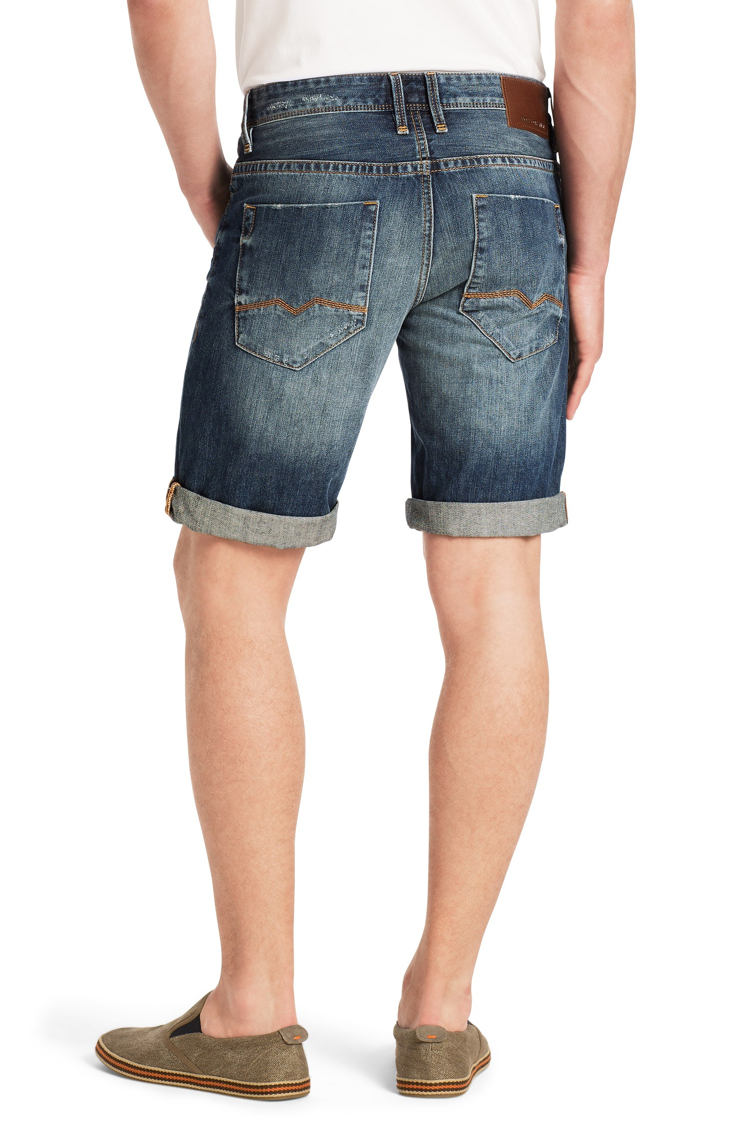 9667dcce081 Boss Orange 'Orange24 Milano' | Regular Fit, Cotton Denim Shorts in ...