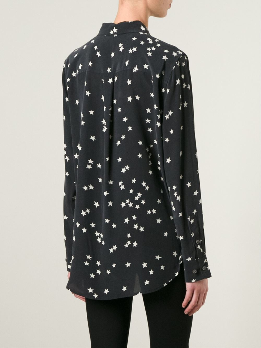 cb30b79999c8 Lyst - Equipment Star Print Shirt in Black