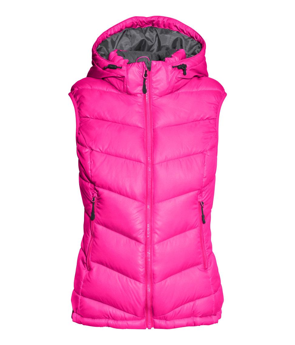 H Amp M Padded Bodywarmer In Pink Lyst