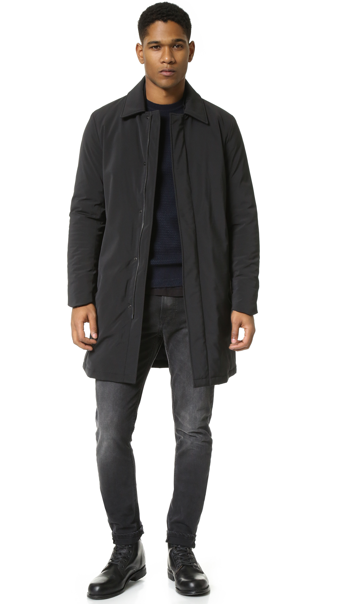 Theory Skodi Clymer Coat in Black for Men | Lyst