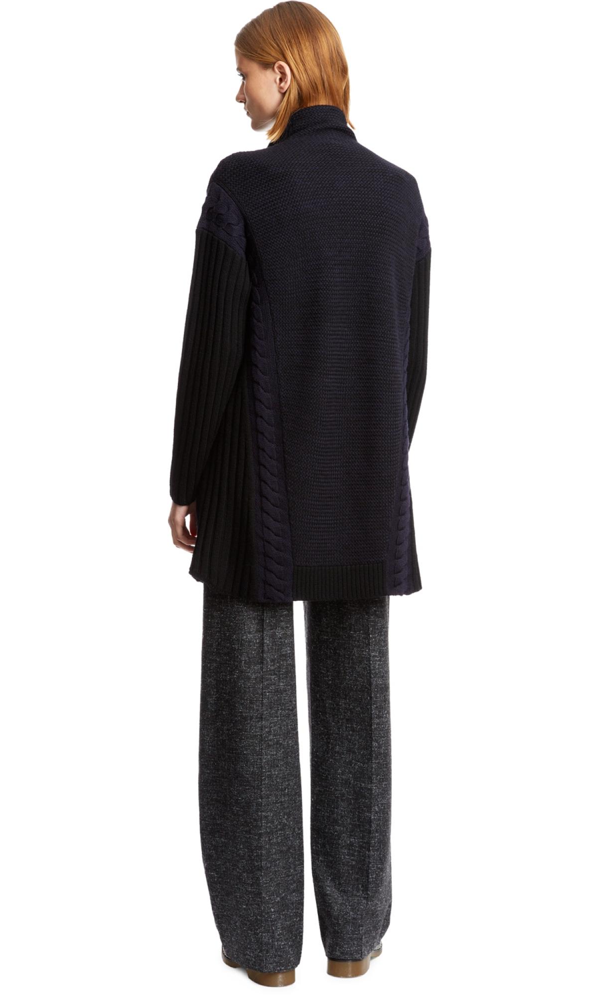 Nicole farhi Basket Weave Cardigan in Black   Lyst