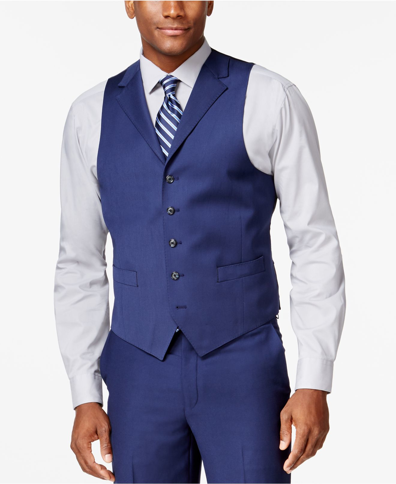 Sean john New Blue Solid Classic-fit Vest in Blue for Men - Save 10% | Lyst