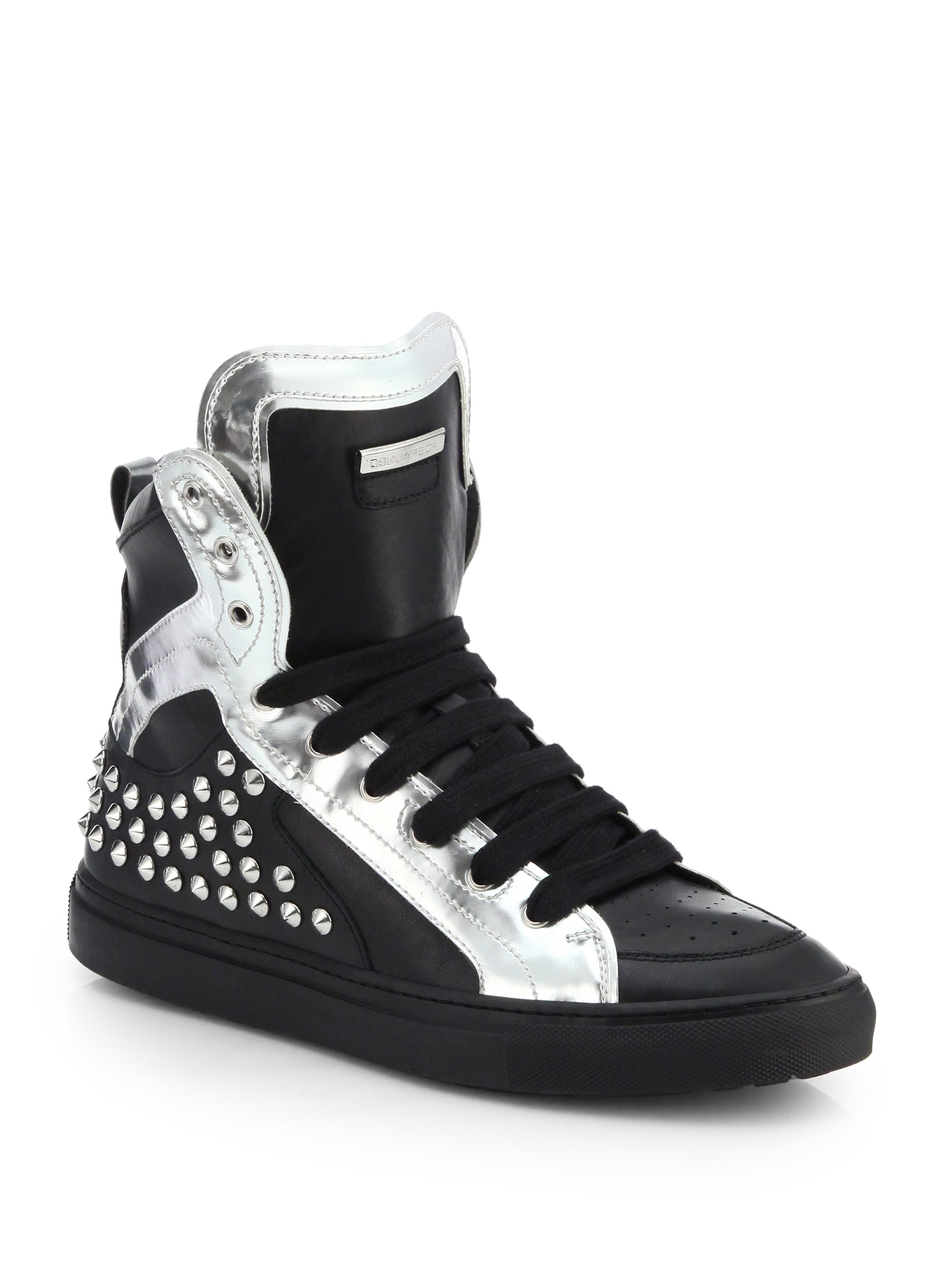 Dsquared² Leather High-Top Sneakers sale for nice 7SAHxm1