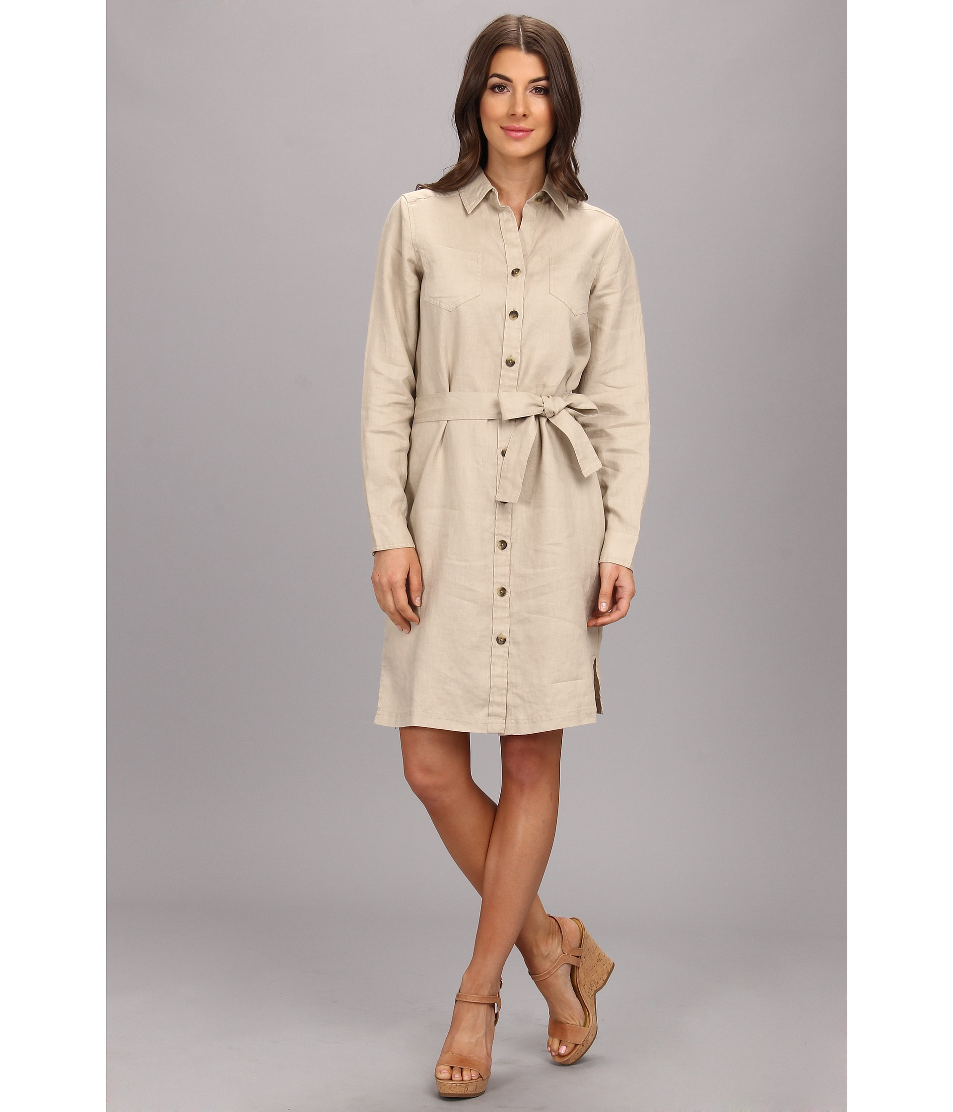 Lyst Pendleton Palisades Linen Shirt Dress In Natural