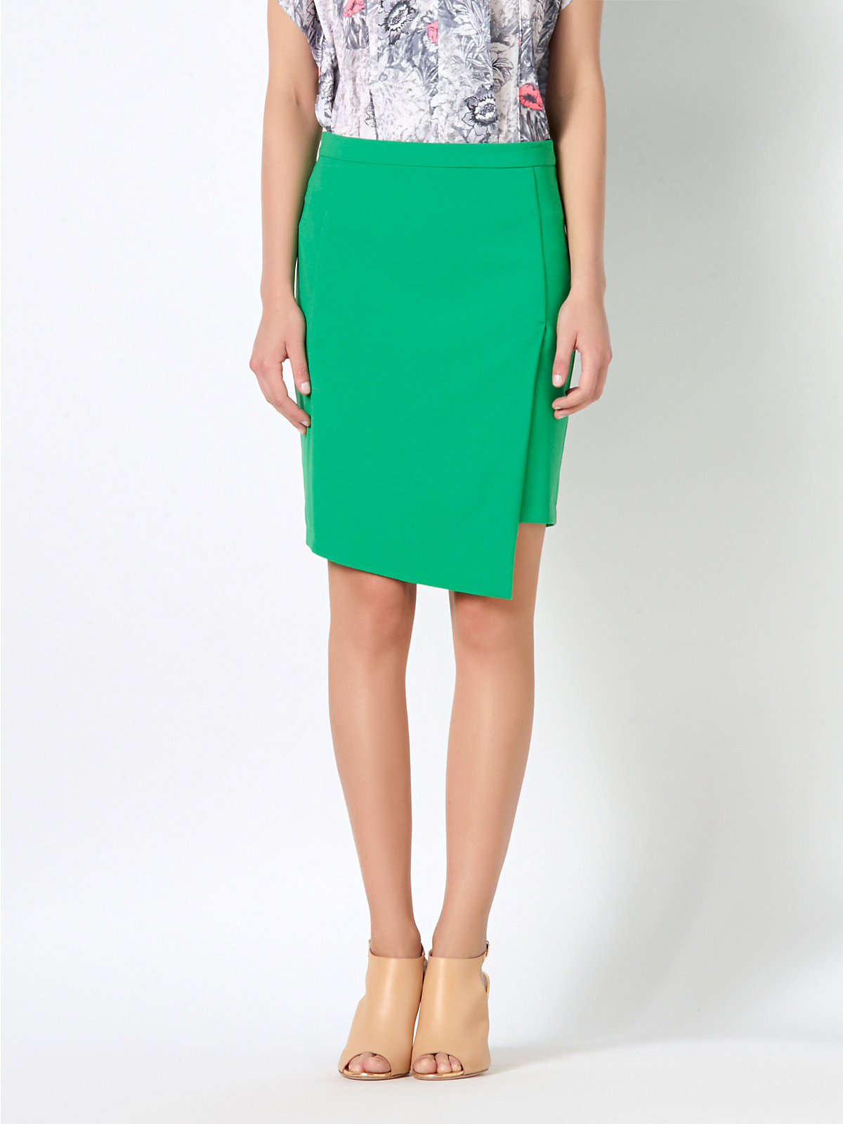 patrizia pepe pencil skirt in stretch fabric in green