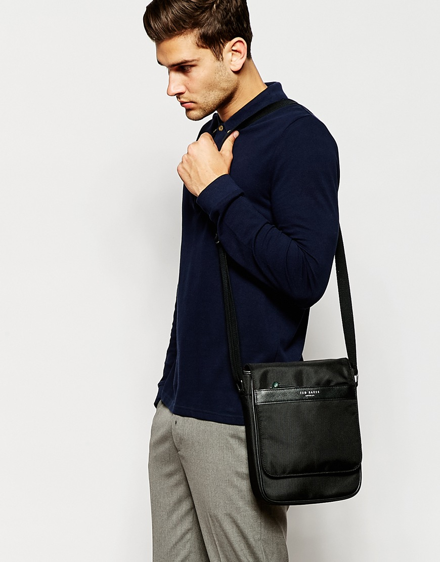 Ted baker Themall Flight Bag in Black for Men | Lyst