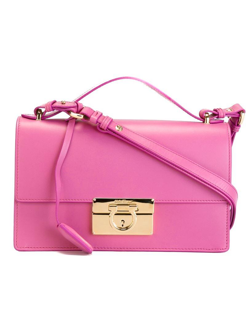 fae95f9e5085 Lyst - Ferragamo  aileen  Shoulder Bag in Pink