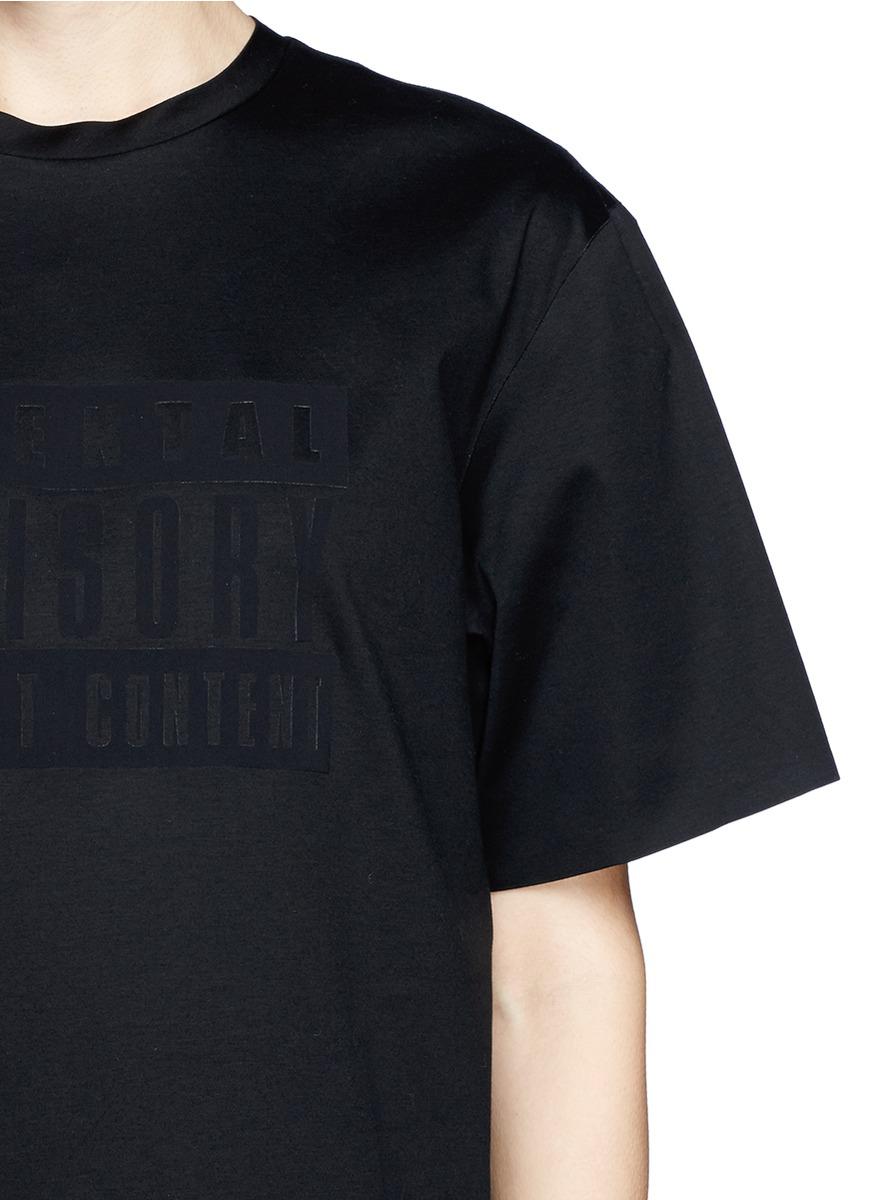 Lyst Alexander Wang Parental Advisory Logo T Shirt In Black