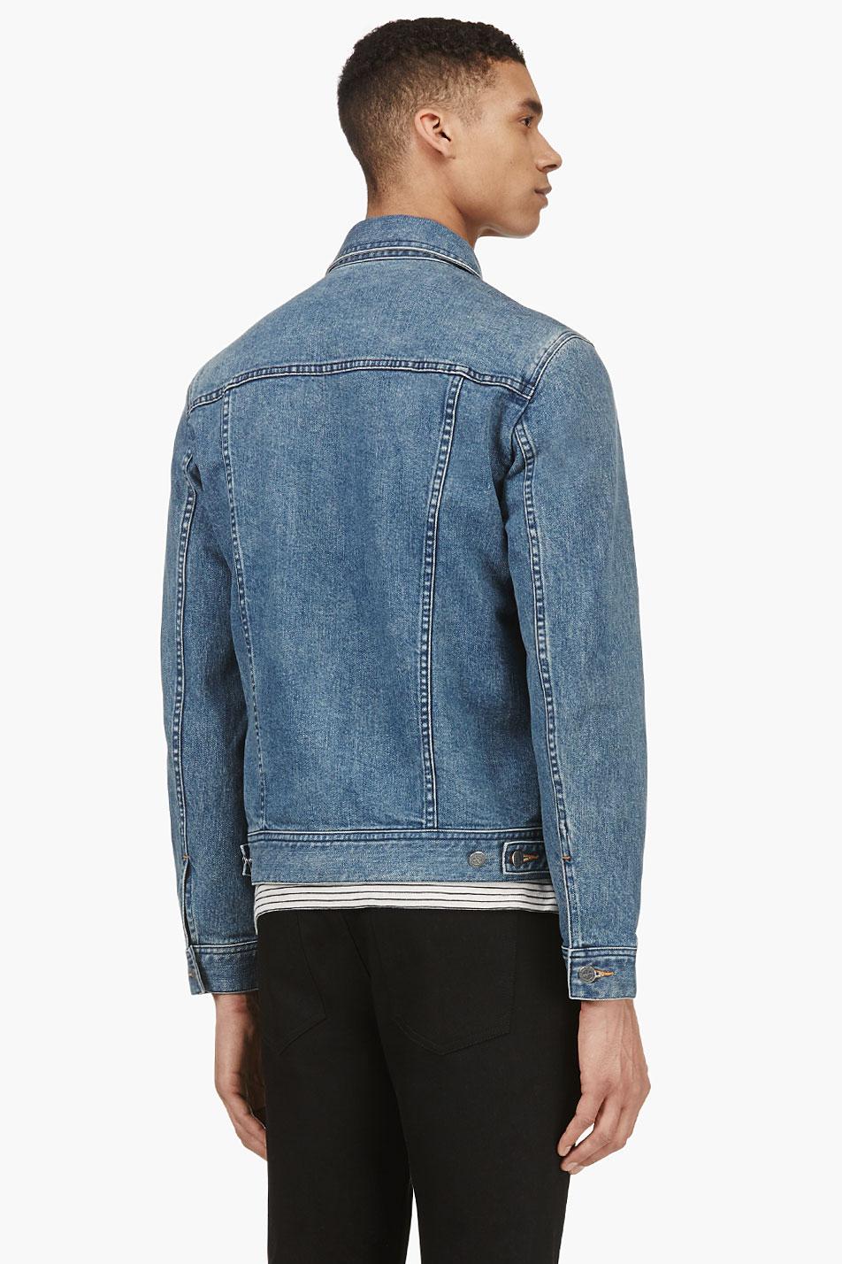 Lyst A P C Indigo Classic Denim Jacket In Blue For Men