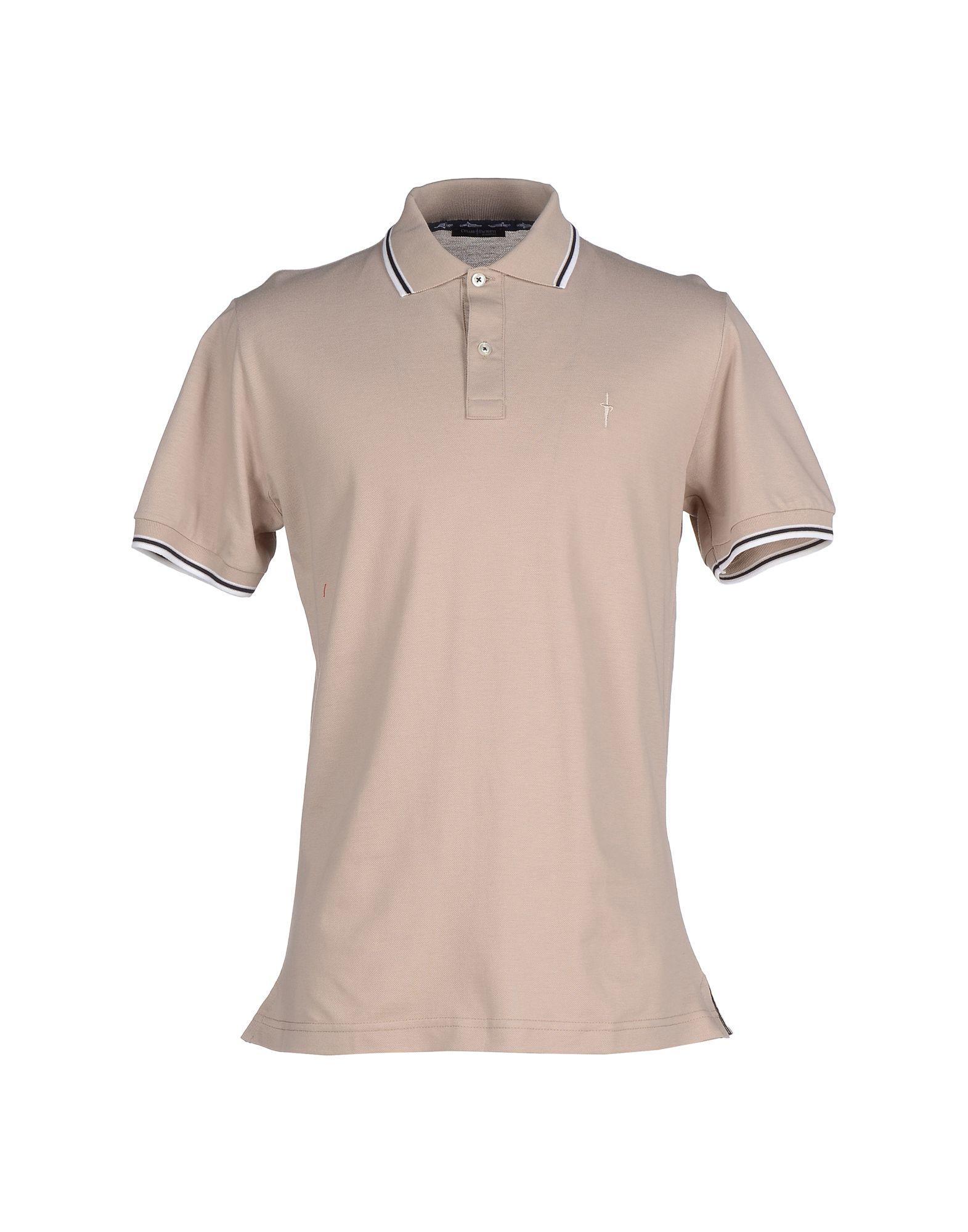 Cesare paciotti polo shirt in brown for men light brown for Light brown polo shirt