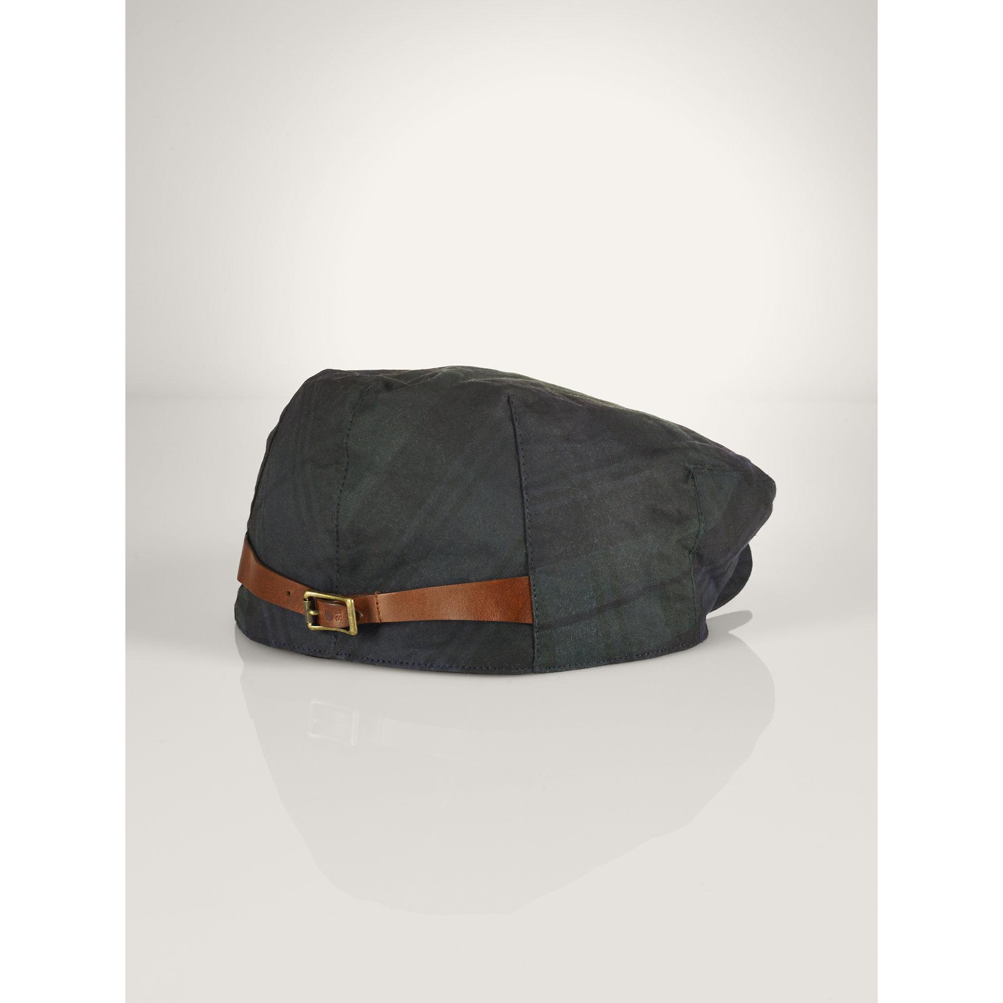8cea278f78388 Polo Ralph Lauren Blackwatch Tartan Driving Cap in Black for Men - Lyst