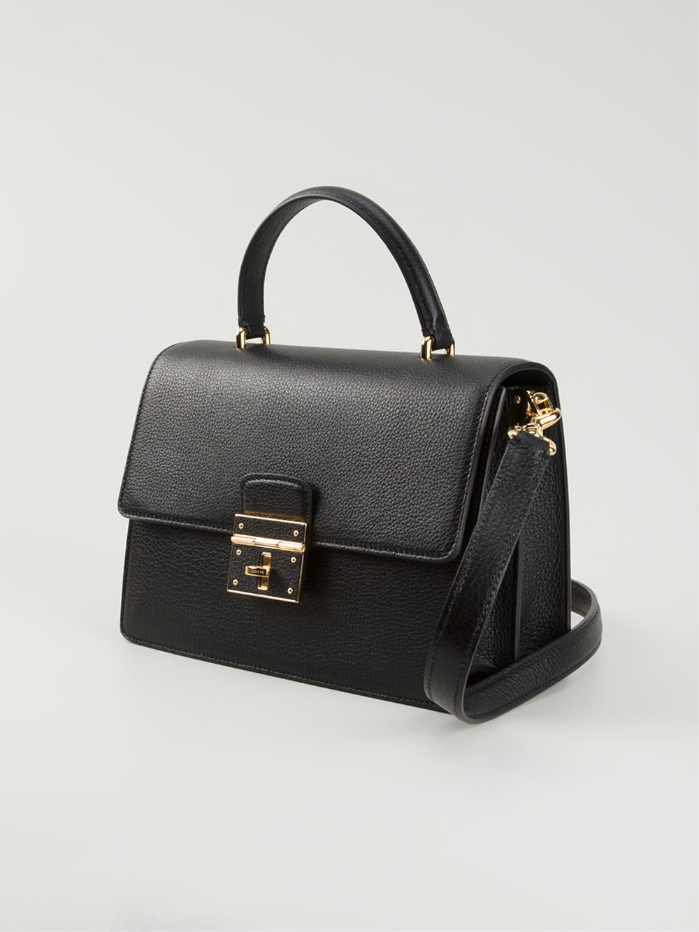 7111e32212391 Lyst - Dolce   Gabbana  Rosalia  Shoulder Bag in Black