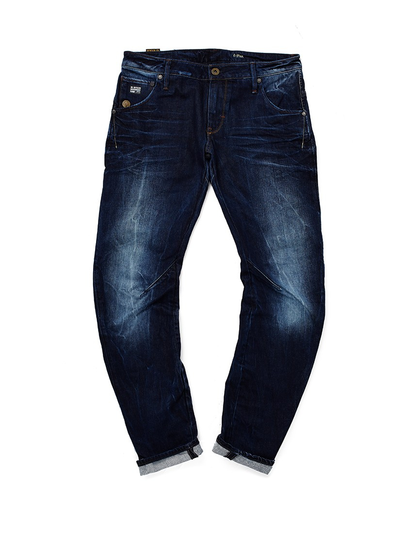 star raw g star jeans arc 3d slim fit medium aged in blue for men. Black Bedroom Furniture Sets. Home Design Ideas