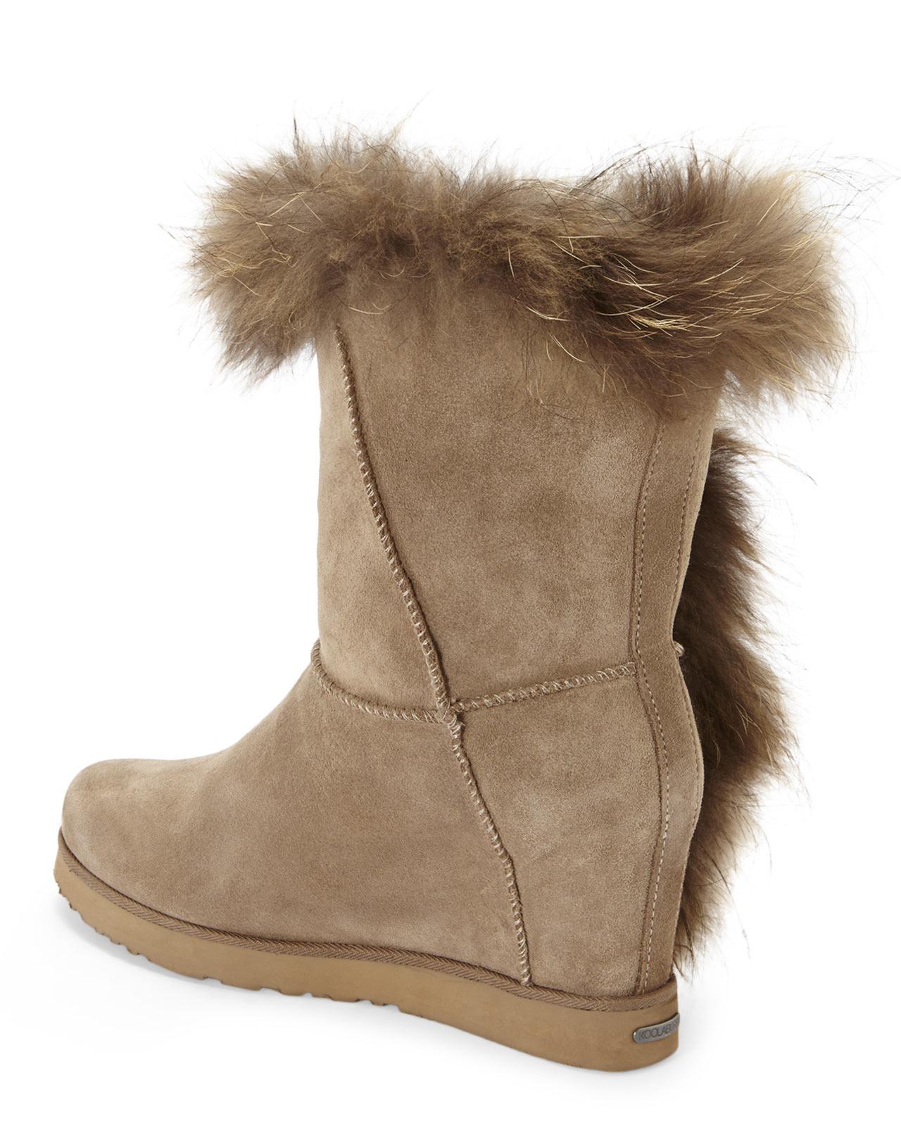 cbb95bf2faad Lyst - Koolaburra Seta Lavolta Real Fur Boots in Brown