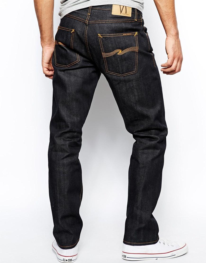 Lyst Nudie Jeans Steady Eddie Straight Fit Organic Dry