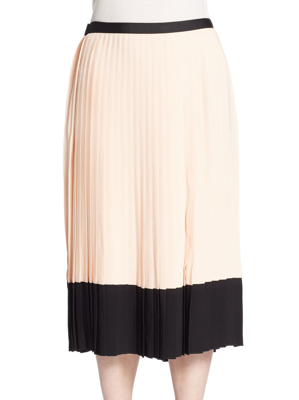 d8ff4a07b Lyst - Kate Spade Pleated Crepe Skirt in Black