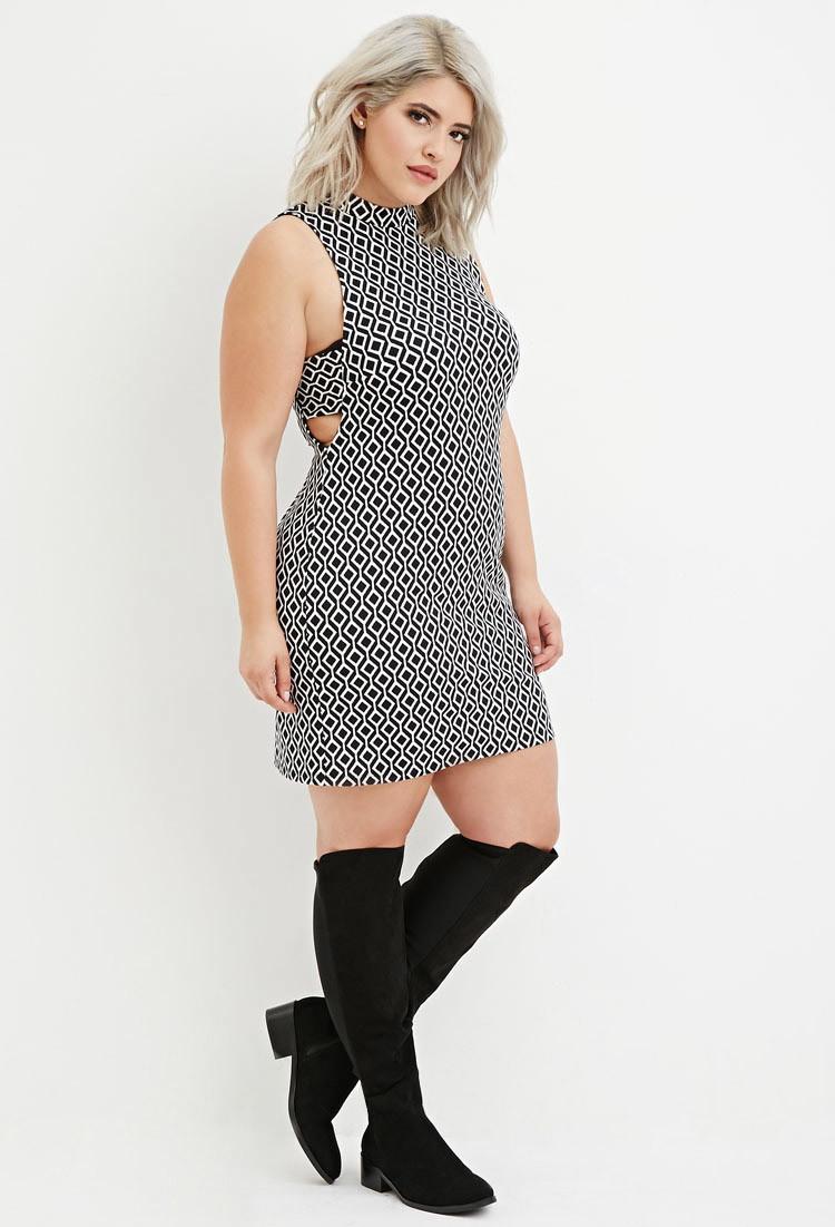 lyst  forever 21 plus size diamondpatterned shift dress